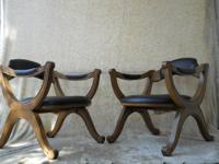 Pair of vintage lounge chairs made mid 20th century in