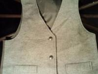 Pair of western vests (med) with buffalo nickel as