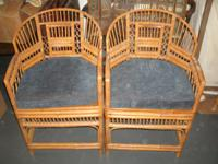 Beautifulm ornate, solid chairs with cushions. Very