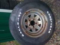 For sale are 2 Eagle Goodyear tires on rims. They are