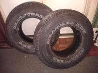 Pair of Wrangler RT/S 265/75R15  A pair of very good