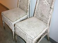 2 pair of wicker chairs. require recuperating. might