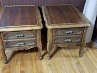 I am selling a pair of Dark Wood End Tables for $50 for