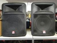 "Pair Peavey Impulse 500 15"" Main Speakers PA"