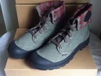 Brand New Palladium Canvas Baggy Hiking Boots