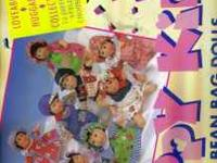 "40 NEW 8 1/2 "" HAPPY KIDS PALM BEAN BAG DOLLS, $2.50"