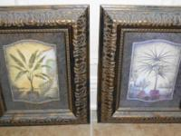PALM TREE PICTURE SET Each measures 13w X 15h.