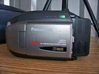 Panasonic Camcorder, palm held includes 3 batteries,