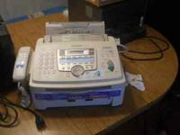 , PANASONIC PLAIN PAPER FAX AND COPIER $50.00 CALL OR