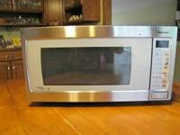 Large Stainless Panasonic Counter Top Microwave.