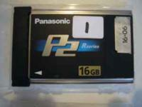 I have P2 R and E cards for sale, used, Panasonic 16