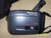 Panasonic Palm Corder IQ. PV-A206. VHS-C. Color view