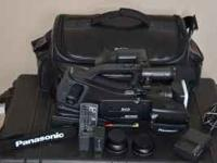 The Panasonic NV-MD10000 3-CCD Mini DV camcorder is a