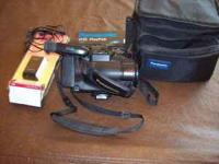 panasonic cam corder,vhs format. complete with carry