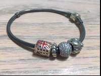 A great bracelet. 4 charms on the bracelet. One is a