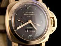 Pre-owned Panerai 18k Rose Gold Luminor 1950 8 Days GMT