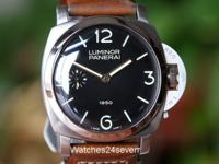 This is a Panerai, PAM 127 Historic 1950 Special