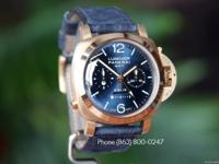 PAM 277 Luminor 1950 Rose Gold Blue Dial 8 Days Chrono
