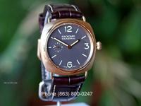 Panerai PAM 336 Radiomir Tobacco Dial Rose Gold 42mm.