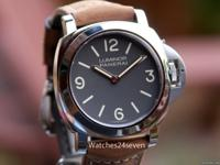 Panerai PAM 390 Luminor Base Stainless Steel Tobacco