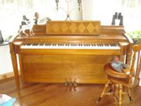 in good condition  cherry wood color solid wood  needs
