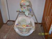 I have a fisher price natures touch cradle swing in