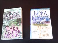 Paper Back Books by Nora Roberts very good shape like