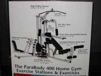 See attached picture, Complete Gym Equipment, Great
