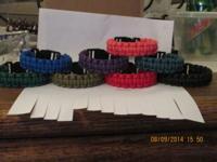 550 Paracord!! Bracelets $5-$7/ wrist lanyards $4/