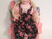 "Paradise Galleries Porcelain doll 15"" # 066D. Porcelain"