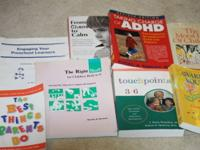 LOT OF 8 BOOKS ON PARENTING, ADHD AND LEARNING