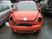 Parting out - 2003 VW Beetle - Orange - Parts - Stock