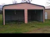 Up for sale is a 24'x20' Garage/Covered Carport 2