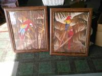 Mint condition, matching paintings with frames. Only