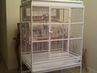 Bird cage huge white playtop like new.Made by