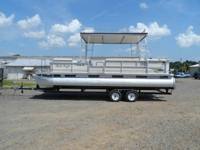 Very nice1998 hardtop pontoon with a strong running