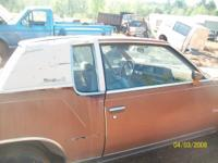 PARTING OUT A  1979 CUTLASS SUPREME BRAHAM. Gold in