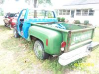 PARTING OUT 1974 CHEVY CUSTOM DELUXE STEP SIDE TRUCK