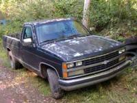 Parting out 89 Chevy Pickup: 305 V8 runs but uses oil,