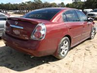 WE ARE PARTING OUT A 05 ALTIMA 3.5 L WITH AUTOMATIC