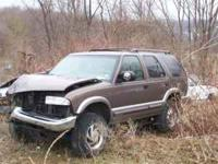 We are parting out a 2000 Chevy Blazer 4DR. Its wrecked