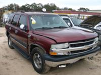 WE ARE PARTING OUT A 2001 CHEVROLET TAHOE 5.3 L WITH