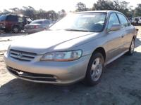 WE ARE PARTING OUT A 2002 ACCORD EX 3.0 L WITH