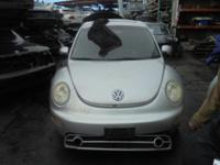 Parting out - 2001 VW Beetle - Silver - Parts - Stock