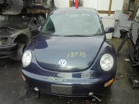 Parting out - 2001 VW Beetle - Blue - Parts - Stock