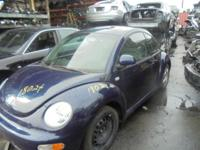 Parting out - 2000 VW Beetle - Blue - Parts - Stock