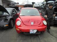 Parting out - 2001 VW Beetle - Red - Parts - Stock