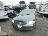 Parting out - 2002 VW Passat SW - Blue - Stock 17061