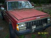 Parting out Jeep Comanche, not selling truck as whole.