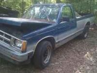Parting out 1990 Chevy S10, 4.3 engine good cond,700r4